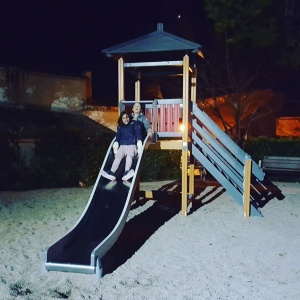 Enfants Kids Toboggan Slide Clair de lune Moonlight