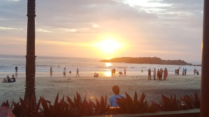 Sunset Kovalam Inde India Plage Beach