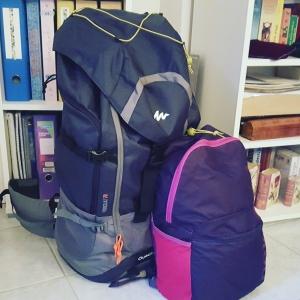 Préparatifs voyage en Inde Bagages Sac à dos L'aventure commence