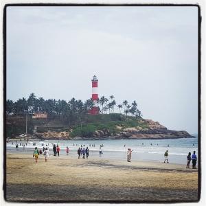 Kovalam Beach Lighthouse India Inde