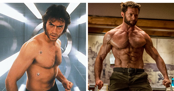 Hugh Jackman X-Men 1999 HUgh Jackman now