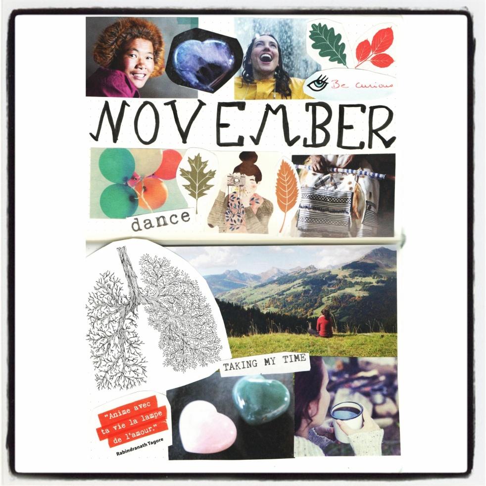 BuJo Bullet Journal Collage Novembre 2017