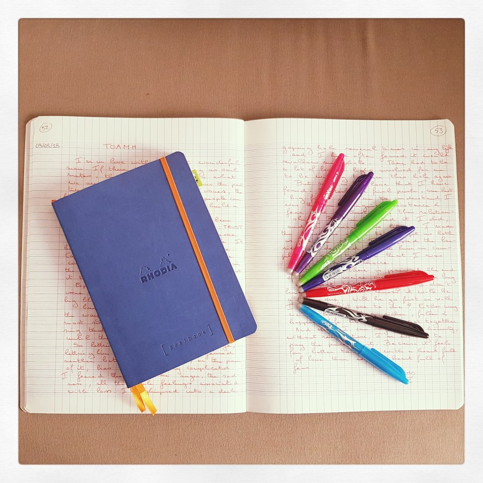 Notebook Writing Inspiration Muse Pens Paper Rhodia Goalbook Bullet Journal Aujourd'hui je m'aime Blog développement personnel