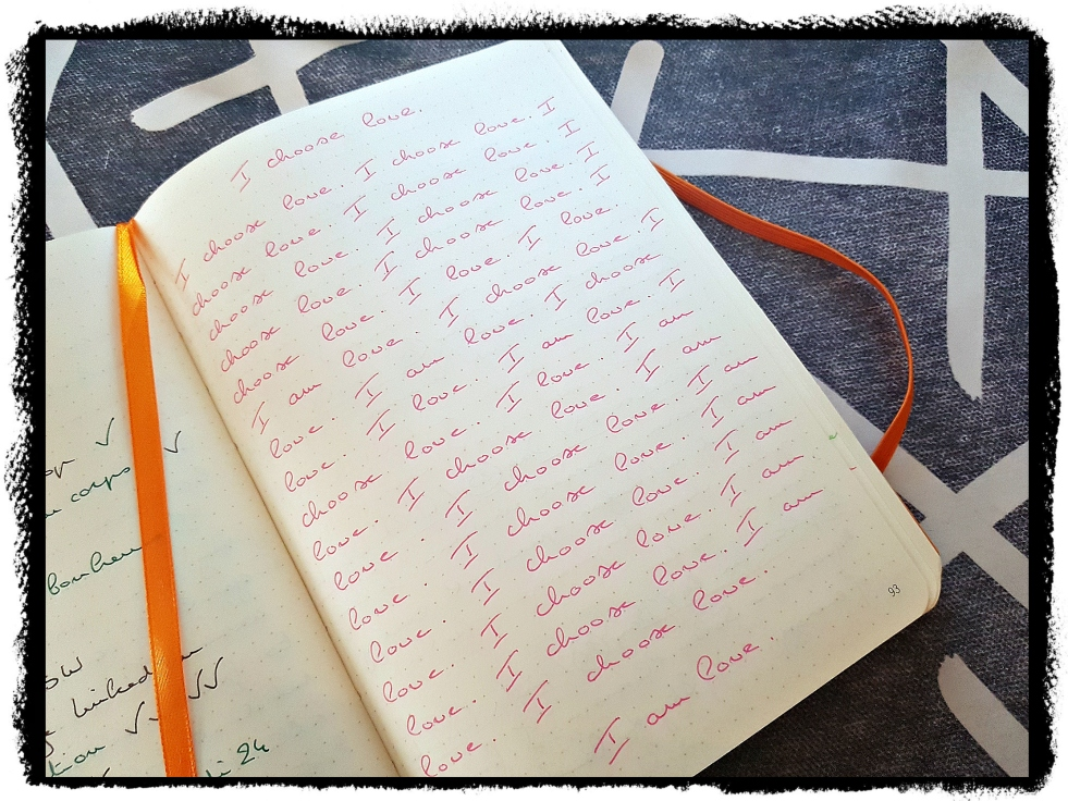 Aujourd'hui je m'aime Blog développement personnel pensée positive positive thinking bullet journal writing therapy journaling