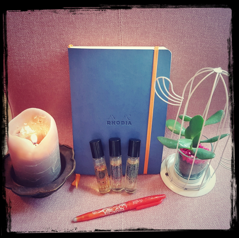 Gratitude Journal Bougies Candles Plantes grasses Succulents Essential oils huiles essentielles What makes me feel good