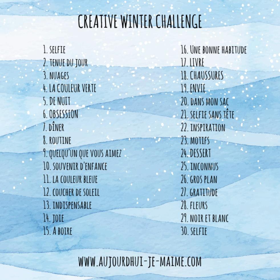 Blog Aujourd'hui je m'aime Today I Love Myself Développement personnel Self-love créativité creativity Winter blues Dépression saisonnière Bien-être hygge