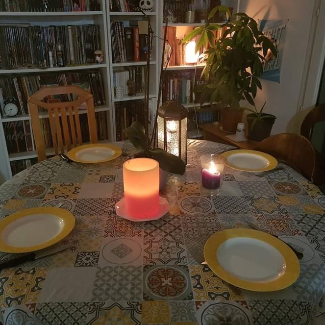 Dinner Table Candles Nice atmosphere Bien-être