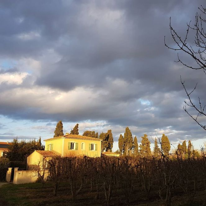 Gratitude Journal Stormy Sky Provence in Winter